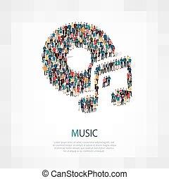 音楽シンボル, 人々