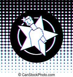 音楽シンボル, 星, ポンとはじけなさい