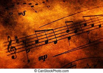音楽シート, グランジ, 概念