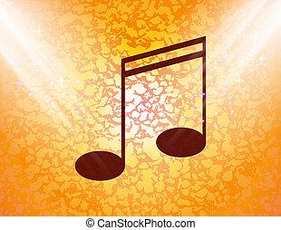 音楽メモ, 上に, 棒, ∥で∥, 抽象的, 背景