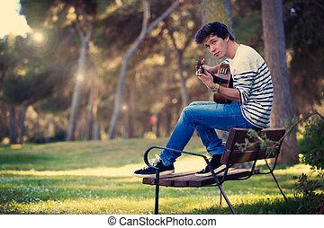 音楽家, ギターの 演奏