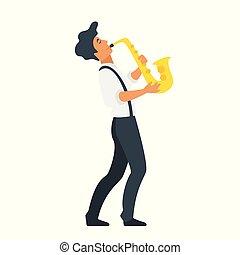 音楽家, サクソフォーン, 若い
