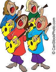 音楽家, 四つ組
