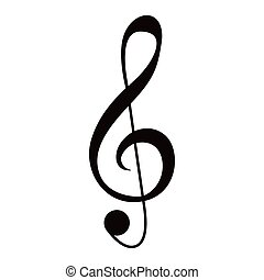 音楽的な ノート, g-clef, 隔離された
