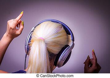 音楽 を 聞くこと, ダンス, 女の子