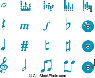 音楽, アイコン, セット