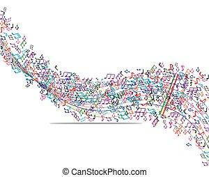 音楽, カラフルである, 背景