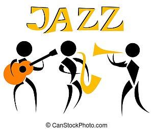 音楽, ジャズ, 1(人・つ)