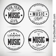 音楽, バッジ