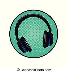 音楽, ヘッドホン, 芸術, ポンとはじけなさい