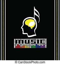 音楽, ベクトル, ラベル, イラスト