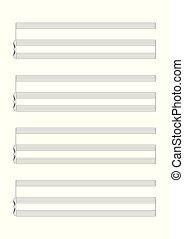 音楽, ベクトル, 表示法, 白紙, 声, ∥あるいは∥, 単独, 道具