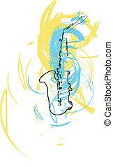 音楽, ベクトル, instrument., イラスト