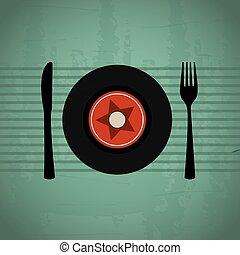 音楽, メニュー