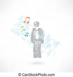 音楽, 人, グランジ, アイコン