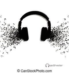 音楽, 使用, デザイン, 抽象的, 背景