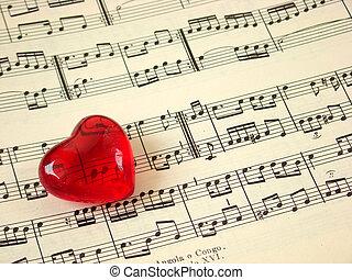 音楽, 心, &, スコア