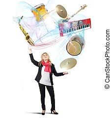 音楽, 曲芸師