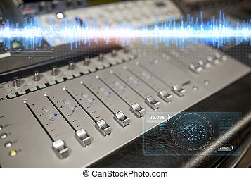 音楽, 混合 コンソール, ∥において∥, 録音, スタジオ