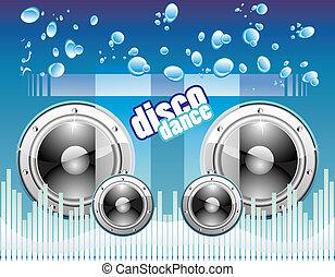 音楽, 背景, ディスコ