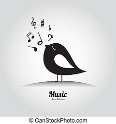 音楽, 鳥