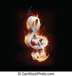 音楽, fiery