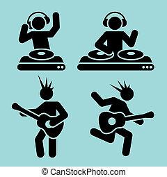 音楽, pictograms