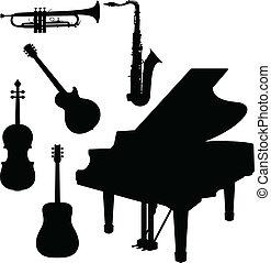 音樂儀器, 由于, 鋼琴, 矢量