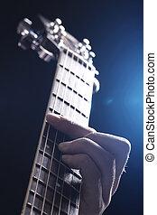 音樂家, 玩, 上, 吉他