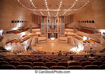 音樂廳, 由于, 器官
