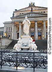 音樂廳, konzerthaus, the, gendarmenmarkt, 柏林, 德國