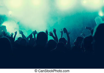 音樂會, 人群, 背景