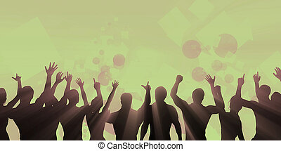 音樂, 節日, 人群