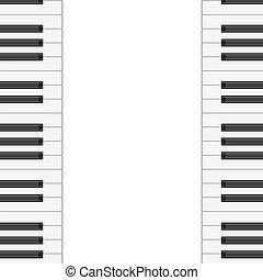 音樂, 背景, 由于, 鋼琴, keys., 矢量, illustration.