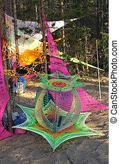 音樂, festival., olkhon, island.