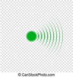 音波, icon., 捜索しなさい, ソナー
