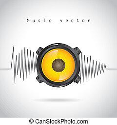 音, デザイン, 波
