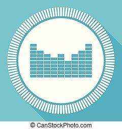 音, 平ら, smartphone, 広場, 網, 青, editable, eps, ベクトル, ボタン, 適用, コンピュータアイコン, 印, 10