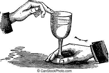 音, 彫版, ガラス, 型, いかに, 産物, 指, ぬれた, 共鳴, ワイン