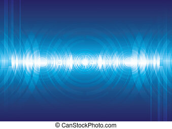 音, 抽象的, デジタルバックグラウンド, 波