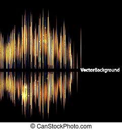 音, 抽象的, waveform., background-shiny