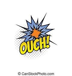 音, 爆発, 漫画, 本, 漫画, ouch, 爆発