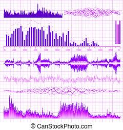 音, 10, set., eps, バックグラウンド。, 音楽, 波