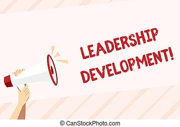 音, development., リーダー, ビジネス, 写真, 提示, space., 執筆, よりよい, リーダーシップ, プログラム, テキスト, 手, 人間, 保有物, 概念, なる, メガホン, 作り, アイコン