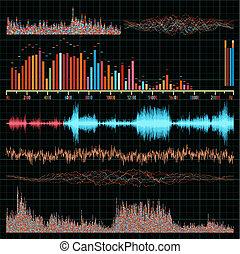 音, set., eps, バックグラウンド。, 音楽, 波, 8