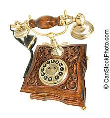 頂部, 側視圖, ......的, 過時的電話