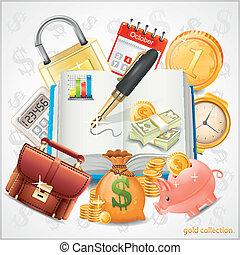 項目, コイン, お金, 金, ビジネス