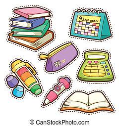 項目, 学校, セット, set., 別