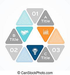 項目, 矢量, infographic, 現代的商務