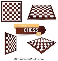 項目, 4, ゲーム, チェス, board., template.